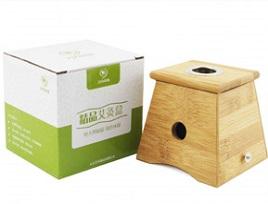 九九艾灸 精品实木单孔艾灸盒