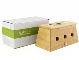 九九艾灸 精品实木三孔艾灸盒