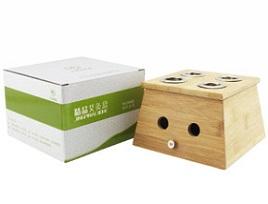 九九艾灸 精品实木四孔艾灸盒